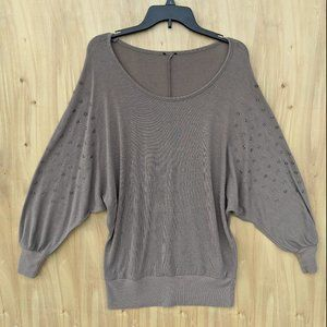 BeBe batwing studded blouse